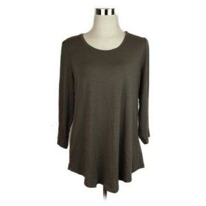 3/$25 NWT JM Collection Taupe 3/4 Sleeve Shirt S